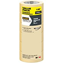 Scotch Contractor Grade Masking Tape, 2020CG-48-CP, 1.88-Inch by 60.1-Yards, 6 Rolls