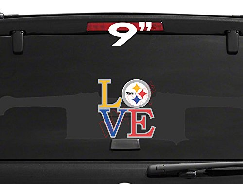 Love pittsburgh steelers vinyl decal sticker full color car truck boat wall window etc from dimoxy designs