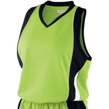 (Girls Wicking Mesh Advantage Softball Jersey / Tank Top from Augusta Sportswear)