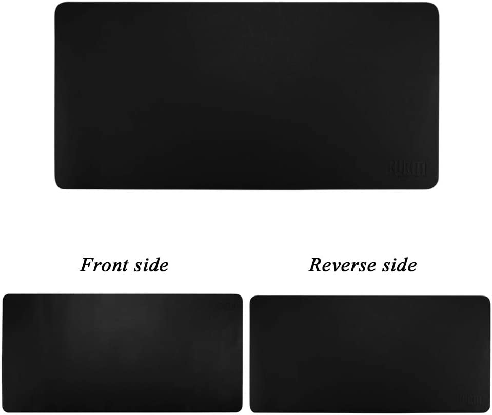 JiaQi Extended Leather Gaming Mouse Pad Mat,Double Side Large Office Writing Desk Mat,Waterproof Table Pad for Computer Laptop-j 120x60cm 47x24inch