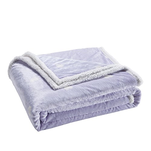 Lala + Bash KEDPU=6 12108 Kelly 50x60 Sherpa Throw Purple