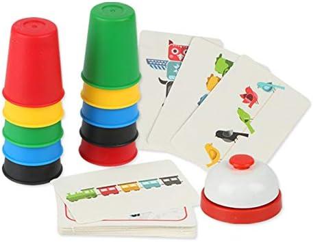 VCB Family Classic Juego de Mesa Habilidad Stacking Cup Juego Juegos de Cartas Juego Puzzle: Amazon.es: Hogar