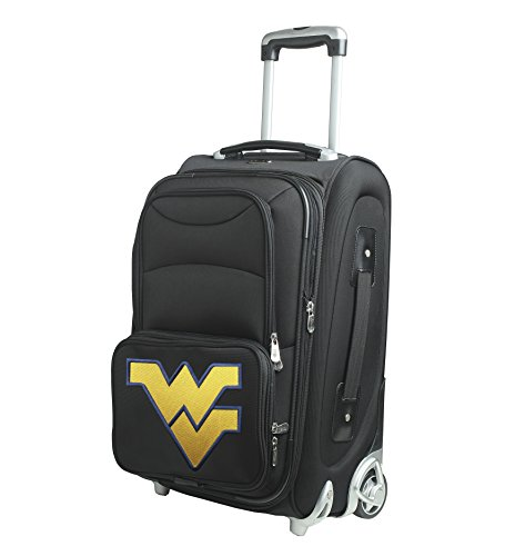 NCAA West Virginia Mountaineers In-Line Skate Wheel Carry-On Luggage, 21-Inch, Black by Denco