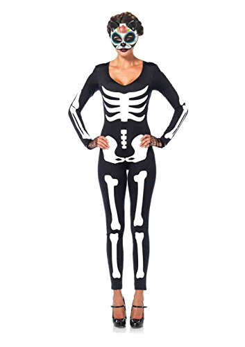 Glow-In-The-Dark Skeleton Catsuit Costume Bundle with Rave Shorts (Glow In The Dark Skeleton Suit)