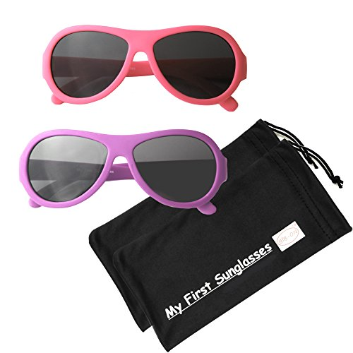 MFS- Baby Aviators 110mm - Hot Pink and Fuchsia 2 - Infants Baby Sunglasses For