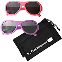My First Sunglasses - Aviators. 100% UV Proof Sunglasses for Baby, Toddler, Kids and Adults! Many Color Options!