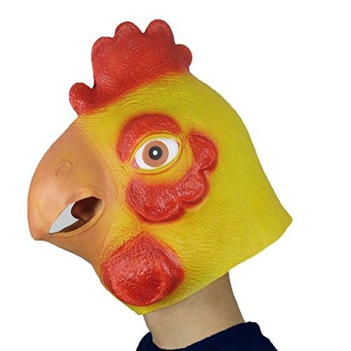 [Monstleo Deluxe Novelty Halloween Costume Party Latex Animal Head Mask Chicken] (Zebra Head Costumes)
