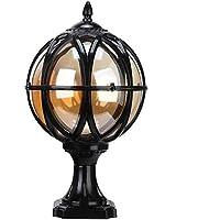 Outdoor Pillar Lamp Aluminum Globe Landscape Lighting Fixture Luxury European Vintage Rustic Country External Rainproof…