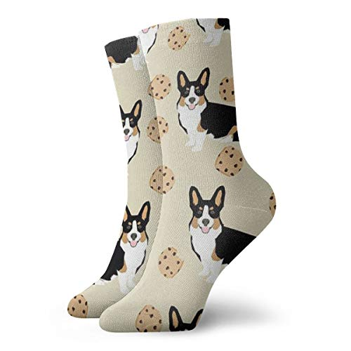 Boys Girls Crazy Funny Funny Corgi Dogs Cookies Socks Cute Novelty Dress Socks ()