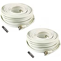 (2) 150 Foot Security Camera Cable for Samsung SDH-C75100, SDH-C75080, SDH-C74040, SDH-C73040