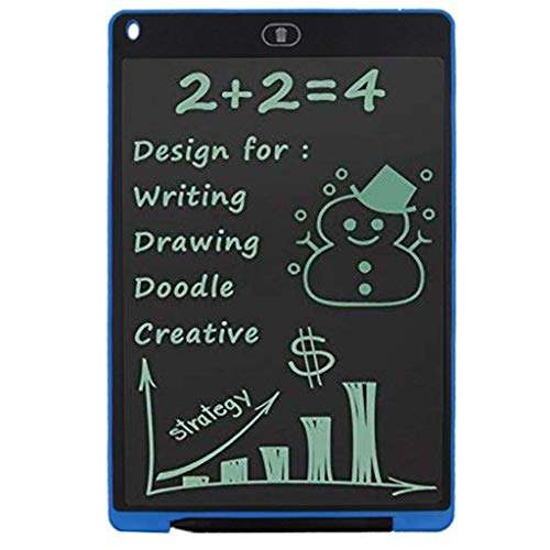 (Sikye 4.5 Inch Ewriter Digital LCD Writing Tablet Electronic Painting /Doodle /Drawing Pad Anti-Shock for Kids School Home Use (Blue))