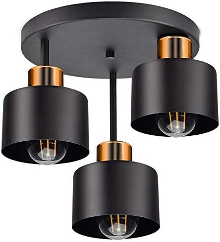 Plafondlamp Zwart Koper Vintage Retro Design Skandi Plafondlamp 3 Lampen E27 Lamp Voor Woonkamer Slaapkamer Eetkamer 382 E3 Amazon Nl