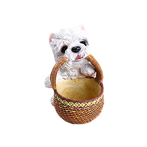 Home Ornaments Dog&Basket Series Design Multifunctional Desktop Storage Box