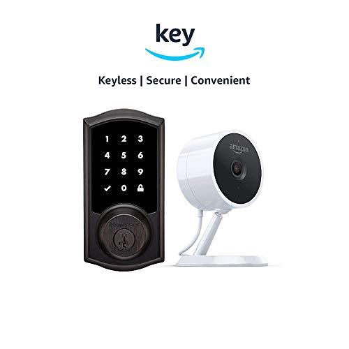 Kwikset 916 SmartCode ZigBee Touchscreen Smart Lock Amazon Cloud Cam Key Smart Lock Kit Traditional Style in Venetian Bronze