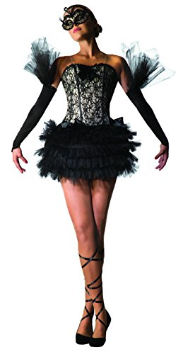 Forum Novelties, Unisex Child Black Swan Ballerina Costume, Multi, One Size]()