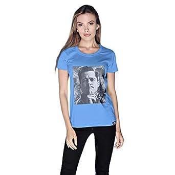 Creo Italian Brad Pitt T-Shirt For Women - S, Blue