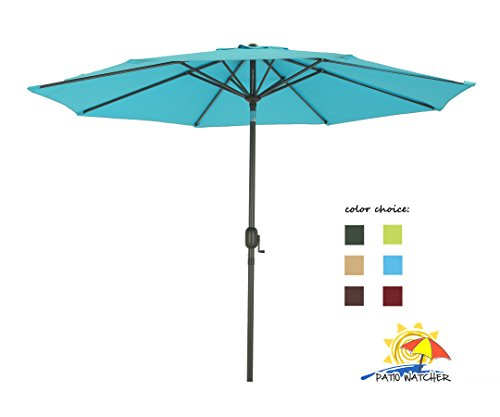 Patio Watcher Aluminum Umbrella Turquoise