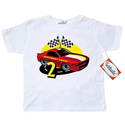 Inktastic Little Boys' Race Car 2nd Birthday Toddler T-Shirt