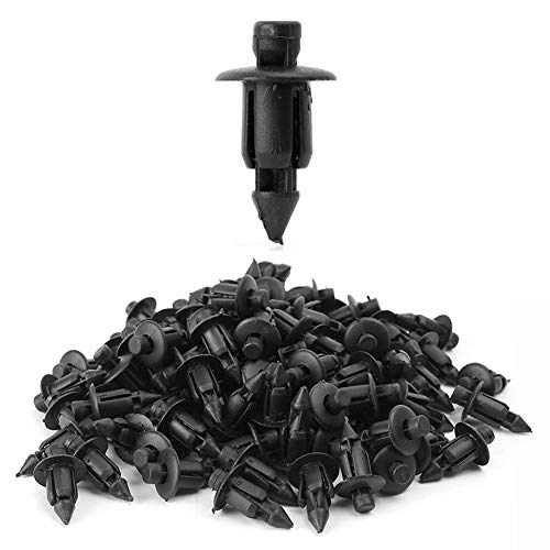GZYF 100Pcs 8mm Push Type Nylon Fastener Rivet Clips Universal Fits Car Truck Motorcycle Auto Furniture Assembly