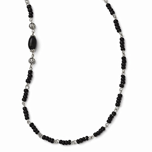 - Jewelry Necklaces Bead and Station Necklaces Silver-tone Downton Abbey Acrylic and Silver-tone Bead 36in Necklace