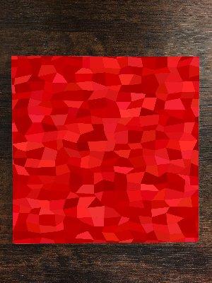 Red Tones Rectangle Polygon One Piece Premium Ceramic Tile Coaster 4.25