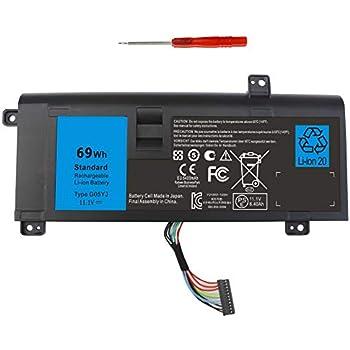 Amazon.com: 69 WH Batería para portátil DELL ALIENWARE 14 ...
