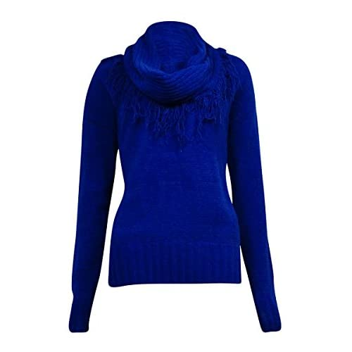 Discount Charter Club Women's Detachable Fringe Chenille Sweater for cheap