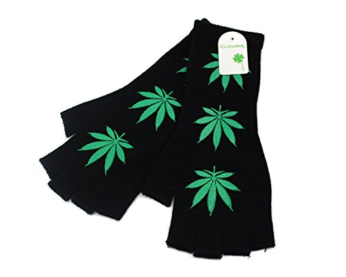 Marijuana Leaf Fingerless Arm Warmer