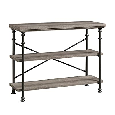 "Sauder Canal Street Anywhere Console, For TV's up to 42"", Northern Oak finish - Accommodates up to a 42"" Tv weighing 35 lbs. Or less Two spacious, 1"" Thick shelves Finished on all sides for versatile placement - living-room-furniture, living-room, console-tables - 41YQvYeHxkL. SS400  -"