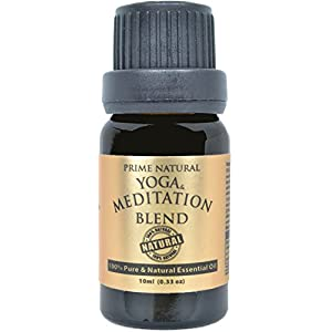 41YQvecXn4L. SS300  - Yoga & Meditation Essential Oil Blend 10ml - 100% Natural Pure Undiluted Therapeutic Grade for Aromatherapy Scents & Diffuser - Natural Remedy for Anxiety & Depression Relief, Calming & Soothing