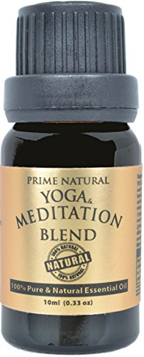 Yoga & Meditation Essential Oil Blend 10ml - 100% Natural Pure Undiluted Therapeutic Grade for Aromatherapy Scents & Diffuser - Natural Remedy for Anxiety & Depression Relief, Calming & Soothing