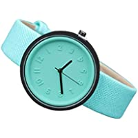Wrist Watch,AutumnFall Women Men Simple Fashion Number Watches Quartz Canvas Strap Watch (Mint Green)