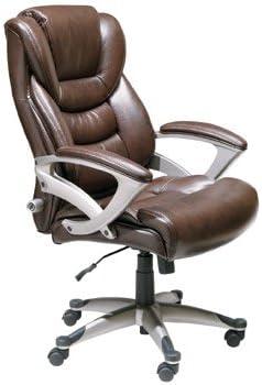 Amazon Com Serta Executive High Back Office Chair Brown Furniture Decor