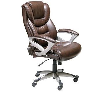 Wonderful Serta Executive High Back Office Chair, Brown
