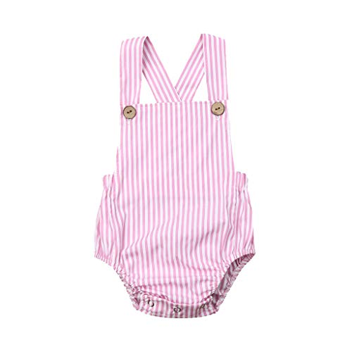 WOCACHI Toddler Baby Kids Girls Boys Sleeveless Solid Stripe Romper Sunsuit Clothes Newborn Mom Daughter Son Coverall Layette Sets Best Gift Multi Adorable Dress-up Outfits