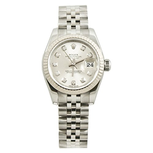 Wind Rolex Watch (Rolex Datejust automatic-self-wind womens Watch 179174JSDIA (Certified)