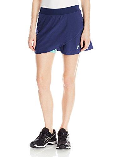 ASICS Women's Athlete Styled Skort, Large, Indigo (Range Wear Knit Skort)
