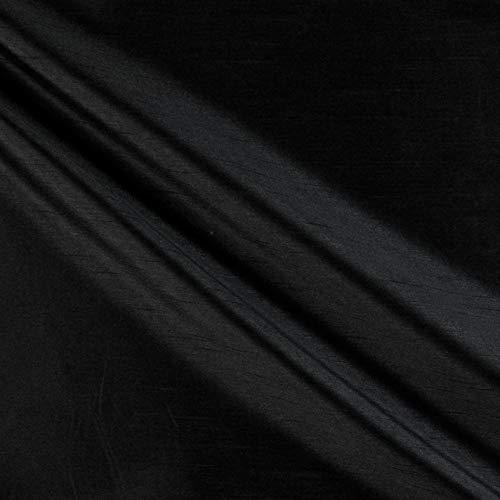58'' Faux Dupioni Silk Onyx Fabric