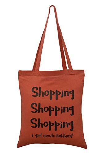 Digg design, Borsa tote donna arancione Apricot
