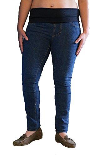 BabyTENS - Jeans spécial grossesse - Femme Bleu bleu Size 10 Long Leg(32inch)