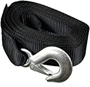 """Enforcer - Strap Replacement - 2"""" X20' Strap & Galvanized Hook with Loop End - 4500Lbs Breaking S"""