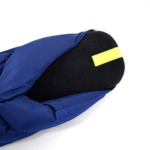 Monique Mujeres Hombres Invierno Cálido Plush Algodón Zapatillas Parejas Thick Pantuflas Amantes Hogar Pantuflas Azul