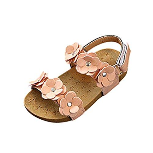 64d6dda32 Sandalias Niña Verano K-Youth® Floral Zapatos Niña Romanas Sandalias Para  Niña Chica Sandalias