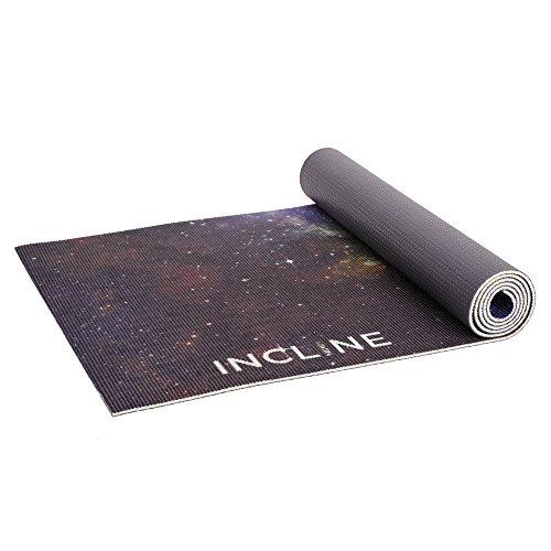"Incline Fit Galaxy Printed Premium Yoga Mat, 72"" X 24"" X 1"