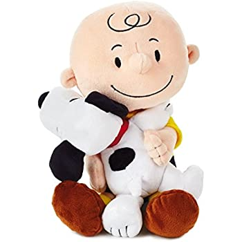 cf372cddc02 Hallmark Peanuts Charlie Brown and Snoopy Hugging Stuffed Animal