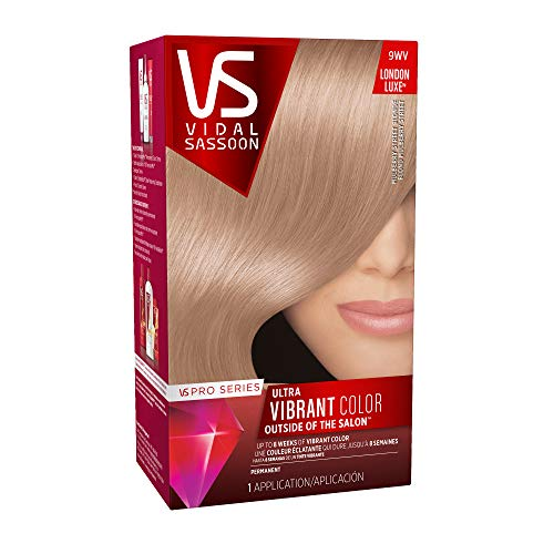 Vidal Sassoon Pro Series London Luxe Hair Color Kit, 9WV Mulberry Street Blonde (PACKAGING MAY VARY)