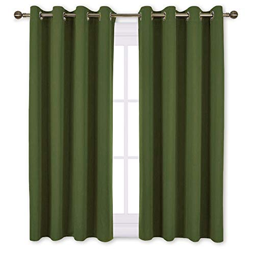 """NICETOWN 45"""" Bedroom Curtains Panels - Functional Blackout C"""