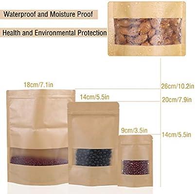 16 x 24 cm 100PCS DARUITE Bolsitas Plastico Peque/ñas Bolsas Zip Reutilizable Congelar Transparente Cierre Cremallera Autocierre Bag para Joyer/ía Cocina Chuches