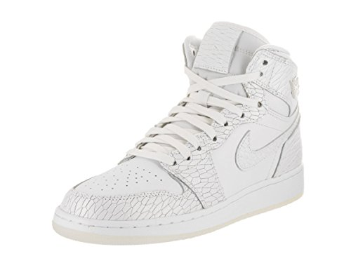 Nike AIR JORDAN 1 RET HI PREM HC girls fashion-sneakers 832596-100_3.5Y - WHITE/WHITE-PURE PLATINUM by Jordan