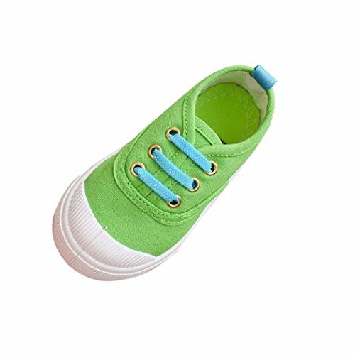 IGEMY Baby Fashion Candy Farbe Canvas Sneakers Kind Freizeitschuhe Grün